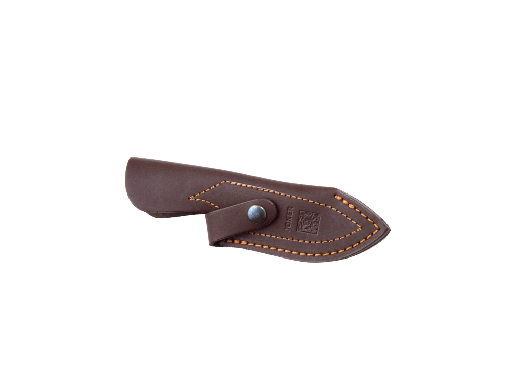 RED WOOD HANDLE 8,5 CM FIXED BLADE SKINNING KNIFE.