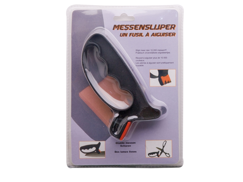 FIBER HANDLE SHARPENER FOR KNIVES AND SCISSORS