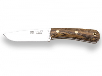SURVIVAL AND BUSHCRAFT KNIFE JOKER MONTAÑERO, BOCOTE WOOD HANDLE, SHEATH WITH FIRESTEEL.