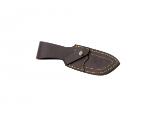 STAG HORN HANDLE, GUT HOOK 11 CM STAINLESS STEEL FIXED BLADE JOKER DESMOGUE SKINNER  KNIFE. LEATHER SHEATH.