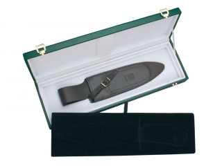 HAND CARVED 25,5 CM STAINLESS STEEL FIXED BLADE HUNTING KNIFE FOR COLLECTORS.GIFT CASE INCLUDED.